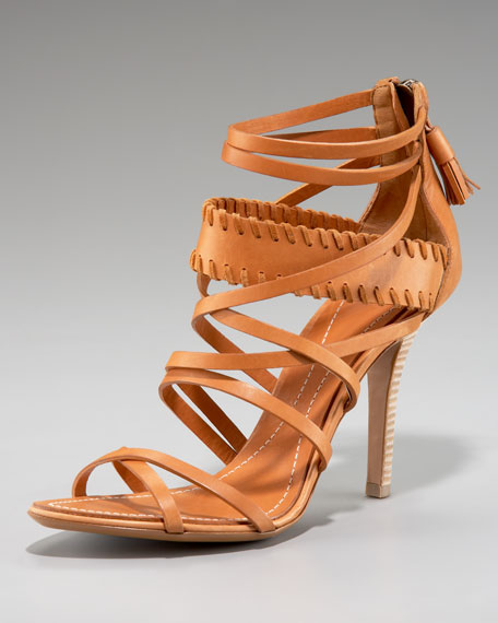 Strappy Whipstitched Sandal