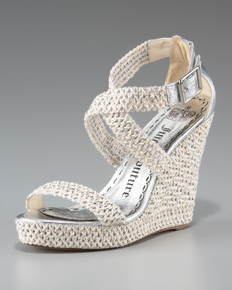 Kiera Crochet Espadrille Wedge