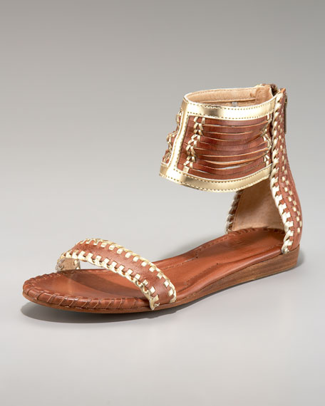 Amelie Metallic Trim Sandal