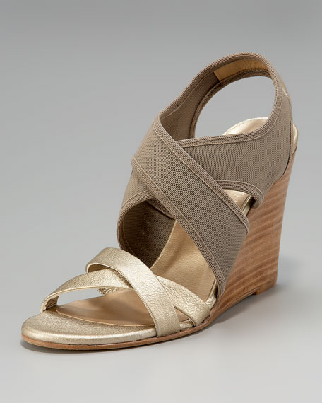 Crisscross Gauze Stretch Sandal