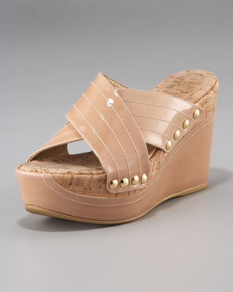Crisscross Cork Wedge