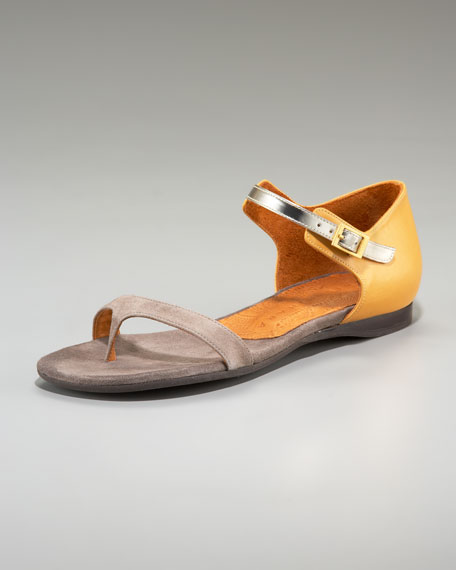 Three-Tone Ankle-Strap