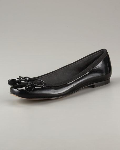 Bow-Toe Ballet Flat