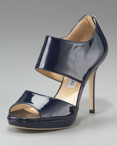 Double-Banded Bootie, Navy