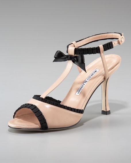 Tuxedo T-Strap Sandal