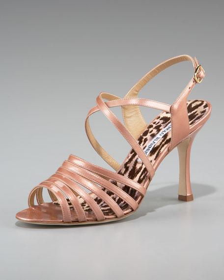 Manolo Blahnik Strappy Patent Sandal