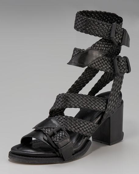 Christy Braid-Strap Sandal