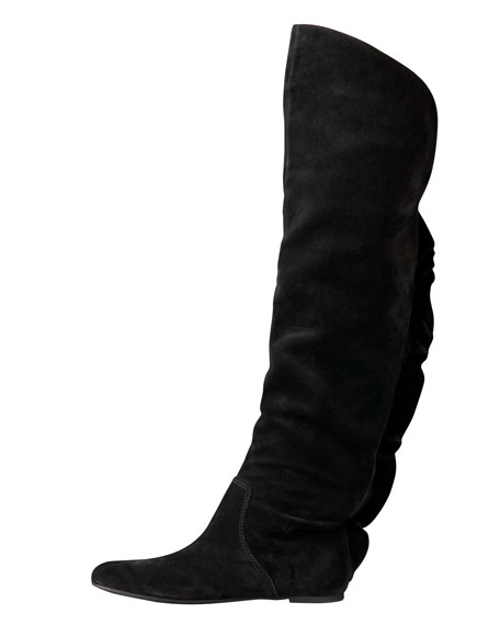 Over-the-Knee Ruffle Boot