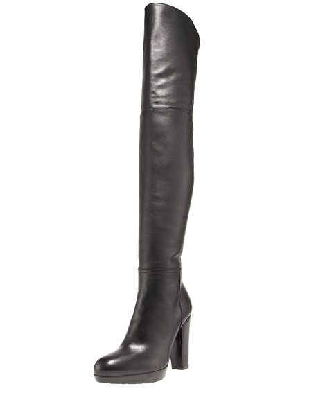 Leather Thigh-High Boot