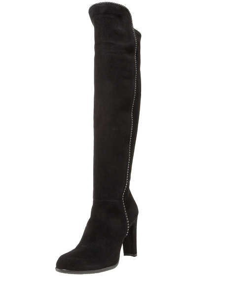 Suede Ball-Chain Boot