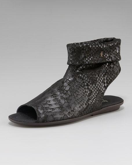 Stretch Ankle Flat Sandal