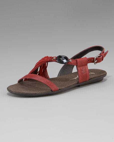 Asymmetric Stone Flat Sandal