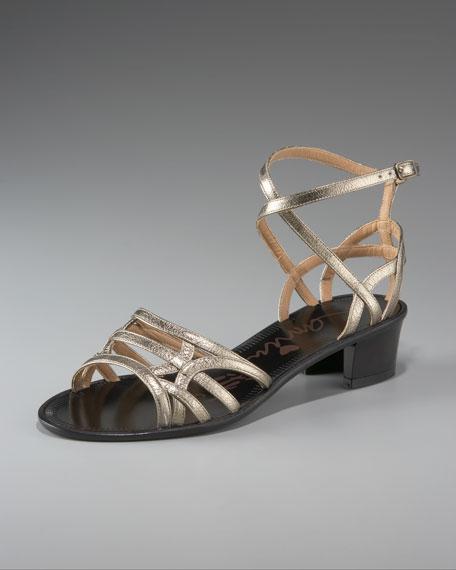 Lanvin Chunky-Heel Strappy Sandal