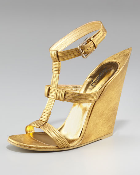 Yves Saint Laurent Exaggerated Wedge Sandal