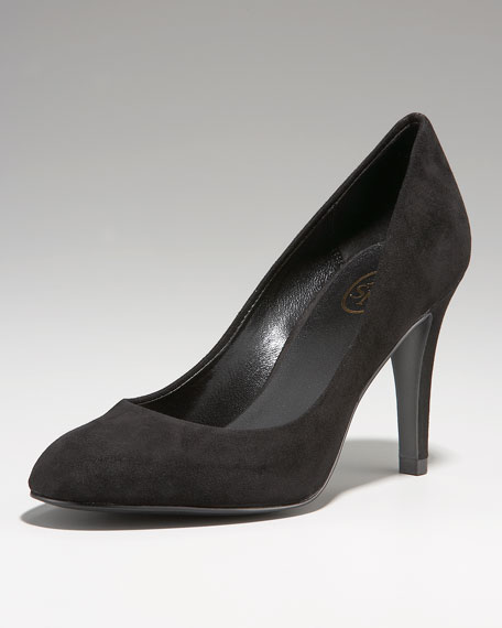 Chloe Suede Pump, Black