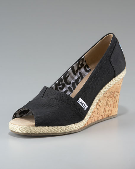 Rowan Cork Wedge, Black