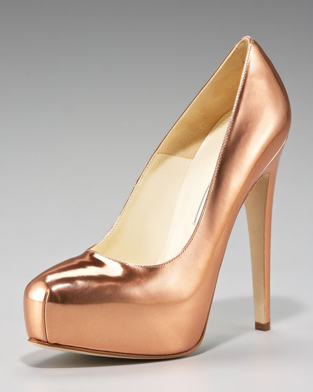Maniac Metallic Pump, Rose Gold