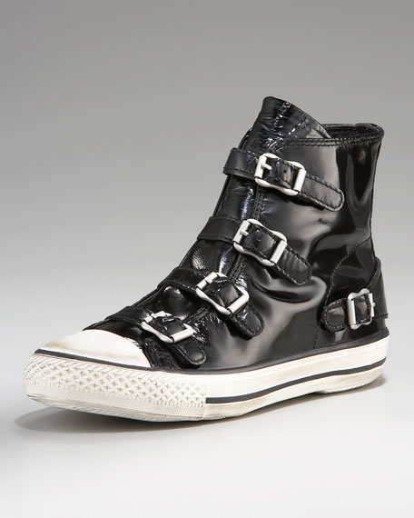 Patent Buckled Sneaker