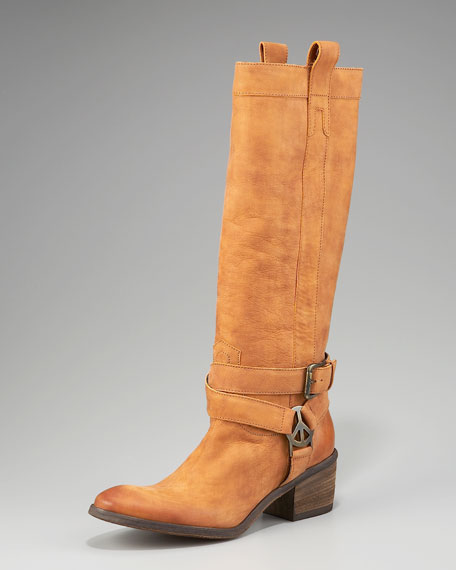 Belted Ankle Boot, Camel