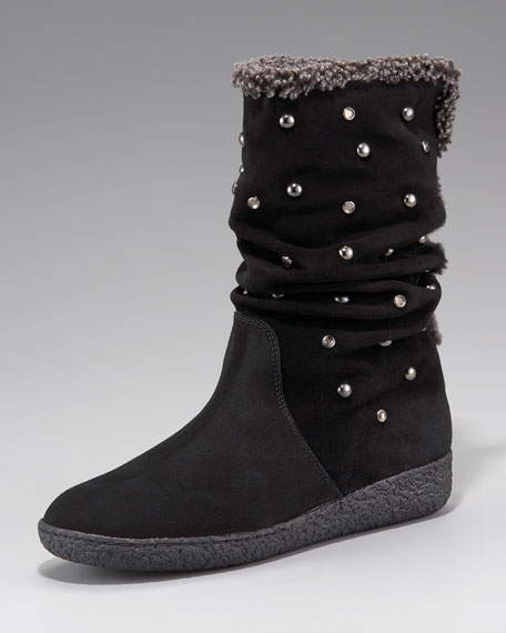 Studded Shearling Boot
