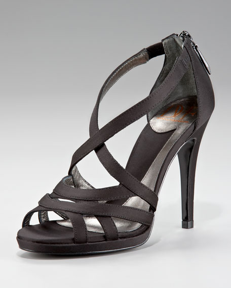 Saint Strappy Sandal, Satin