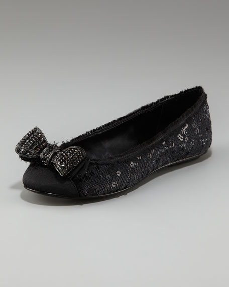 Stacy Sequined Ballerina Flat