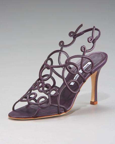 Swirly Halter Sandal, Purple
