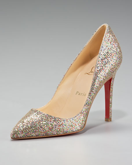 Pigalle Glittered Pointed-Toe Pump