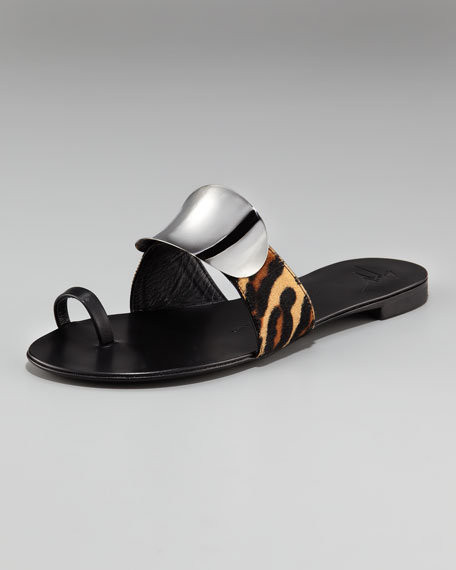 Shield Leopard Sandal