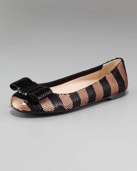 Paillette Ballet Flat