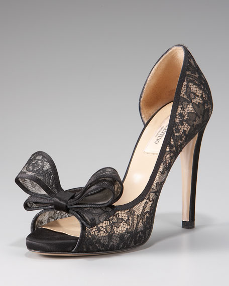 Couture Bow Lace d'Orsay
