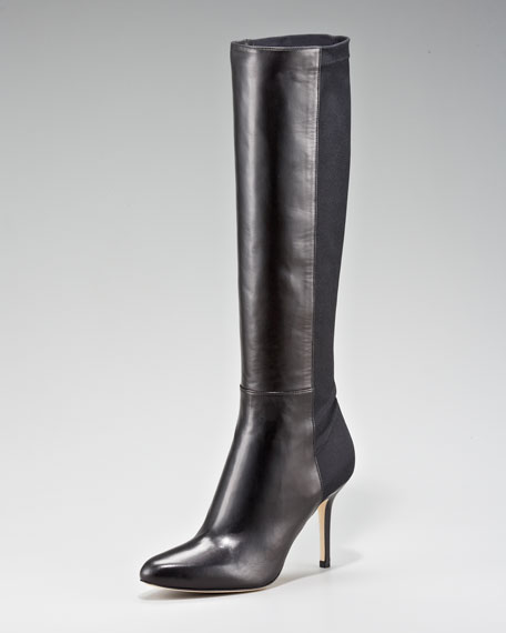 Keren Napa & Stretch Suede Knee Boot