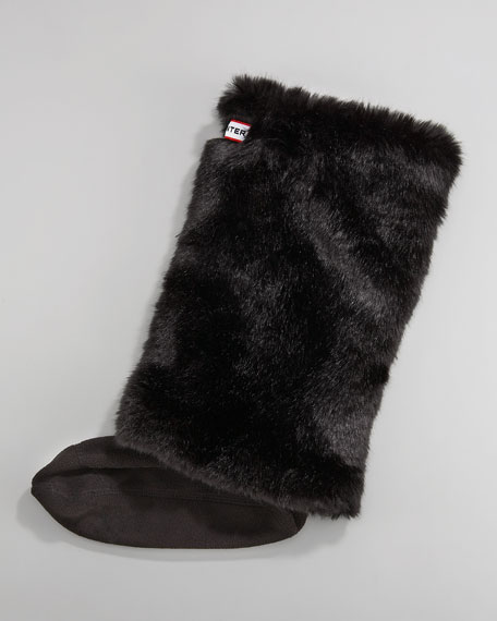 Faux-Fur Welly Sock