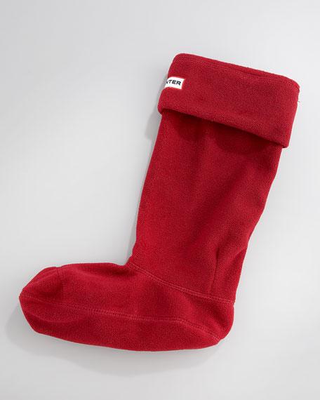 Fleece Welly Sock, Very Berry