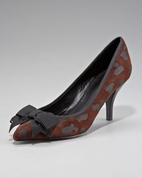 Spotted Suede Pump