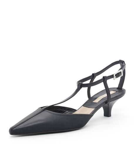 Kitten-Heel Halter, Black