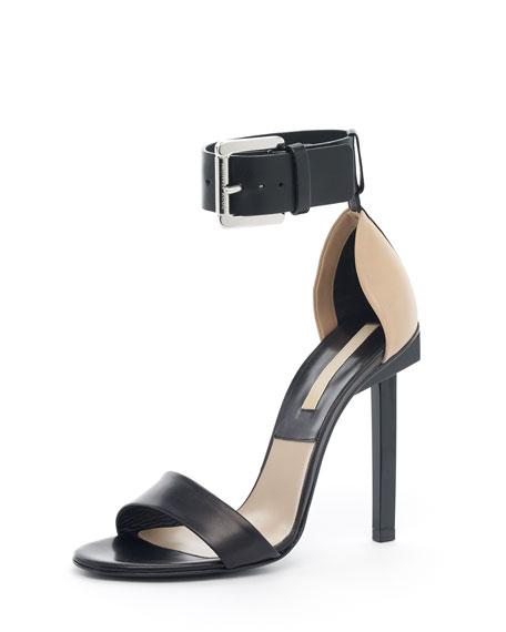 Two-Tone Sandal, Black