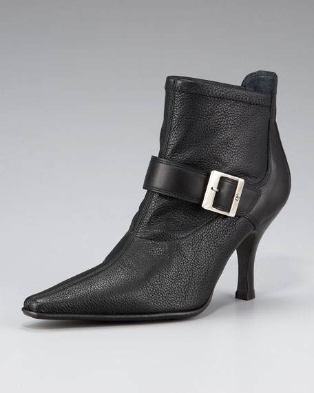 Pointed-Toe Buckle Boot