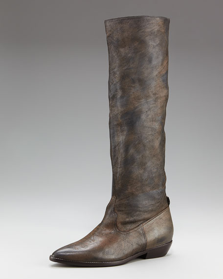 Distressed Knee Boot