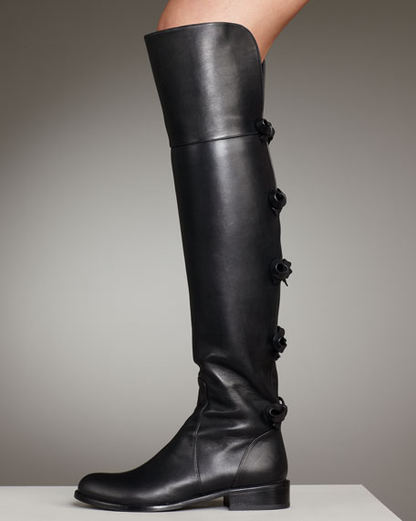 Bow-Back Over-the-Knee Riding Boot