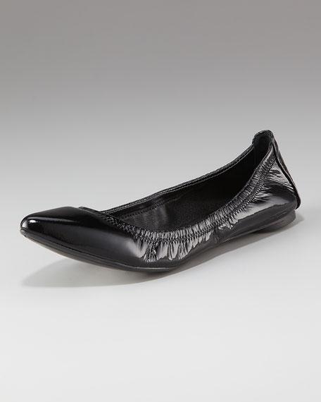 Eddie Pointed-Toe Ballerina Flat