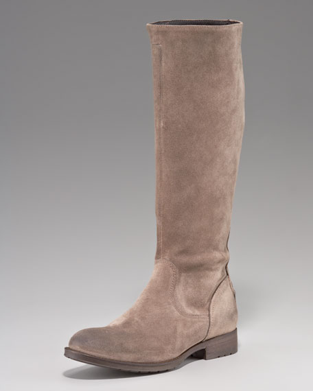 Suede Flat Boot