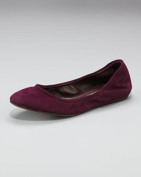 Suede Ballerina Flat