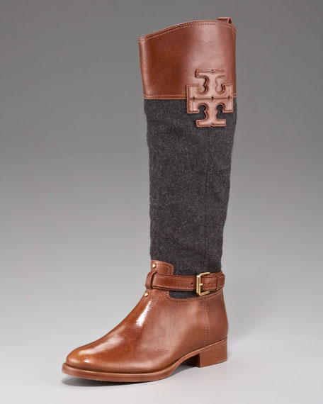 Blaire Leather/Flannel Riding Boot