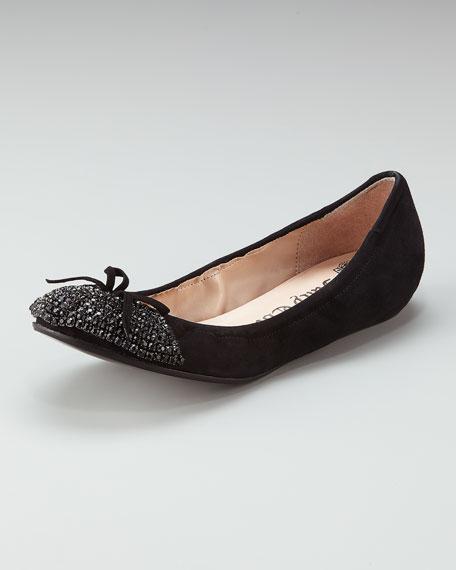 Clara Bead-Toe Ballerina Flat