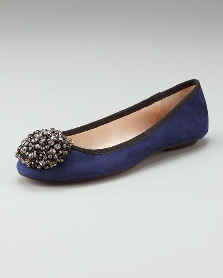 Sienna Jewel-Toe Ballerina Flat