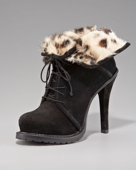 Fur-Lined Ankle Boot