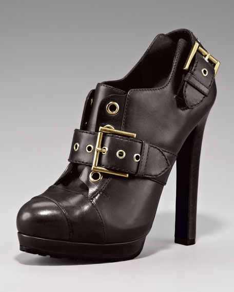 Buckled Oxford Bootie