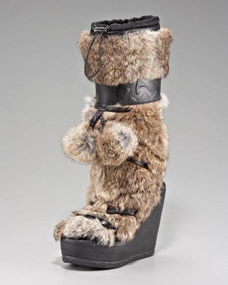 Fur Wedge Boot