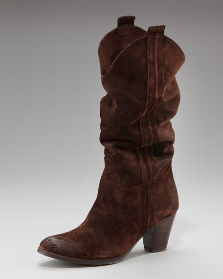 Distressed Slouchy Boot